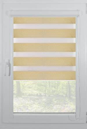 rolete textile day night casetate alb elegance-m02