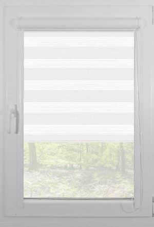 rolete textile day night casetate alb plaine white