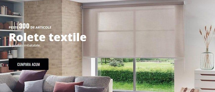 banner rolete textile