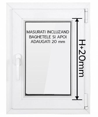 H tool tip instructiuni masurare fereastra pt rolete termofilm 20mm