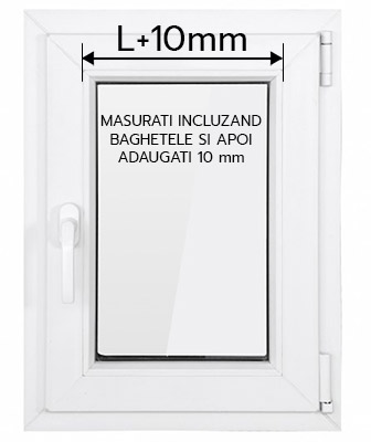 L tool tip instructiuni masurare fereastra pt rolete termofilm 10mm